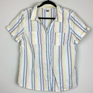 Christopher & Banks Short Sleeve Button Down